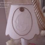 Abat jour blanc monogramme ficelle lin boutique Le Grenier d'Alice gf