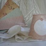 Abat jour romantique abat jour shabby chic lampshade abat jour papier rose ancien rose poudré vieux rose decoration romantique decoration de charme