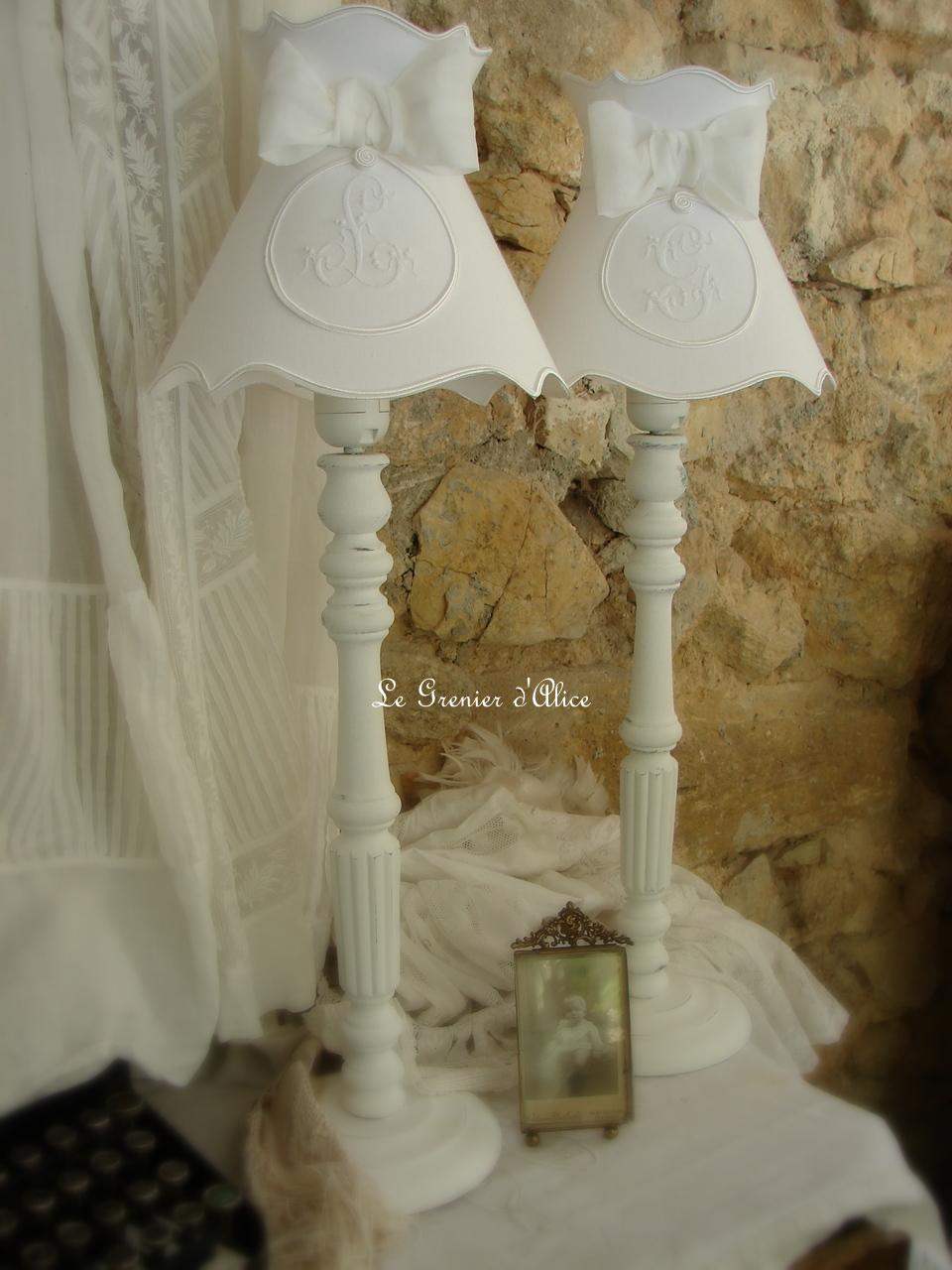 Les abat jour romantiques et shabby chic romantic and for Decoration chic et charme