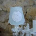 Abat jour shabby chic gris nordique diamètre 10 abat jour pour applique lustre chandelier shabby chic lampshade monogramme decoration romantique gf