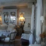 Salle à manger lustre pampilles appliques monogramme chanvre abat jour decoration de charme shabby chic shabby romantic le grenier dalice pf