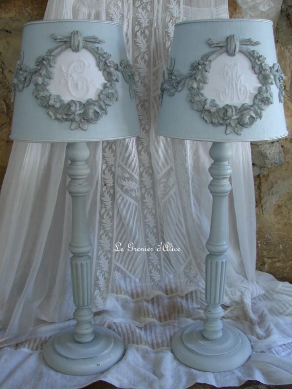 Abat jour romantique abat jour shabby chic lin stone washed lave froisse gris nordique gris vert celadon bleu azuré abat jour suspension 1