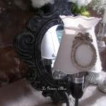Applique amadeus une branche miroir decoration de charme shabby chic