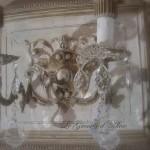 Applique patinée création originale avec ornement deux branches pampilles électrifiée décoration de charme boutique Le Grenier d'Alice 5 gf