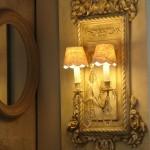 Applique patinée création originale avec ornement deux branches pampilles électrifiée décoration de charme shabby boutique Le Grenier d'Alice 6 gf