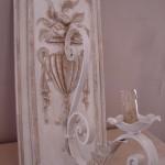 Applique patinée création originale ornement corbeille fruit une branche électrifiée décoration de charme boutique Le Grenier d'Alice 2 gf