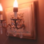 Applique patinée création originale ornement deux branches pampilles électrifiée décoration de charme boutique Le Grenier d'Alice gf