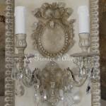 Applique patinée création originale ornement médaillon deux branches pampilles électrifiée décoration de charme boutique Le Grenier d'Alice 8 gf