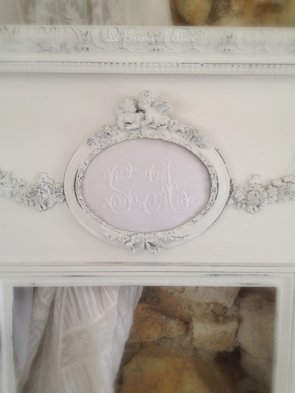 Nouveau trumeau shabby romantique le grenier d 39 alice for Miroir trumeau blanc