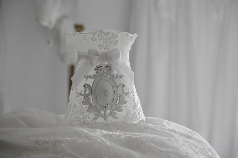 Abat ornement résine ornement platre suspension voile de mariée abat jour shabby chic lampshade abat jour romantique abat jour de charme 2