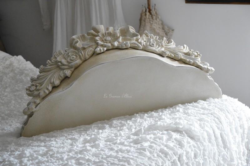 Etagère sur mesure etagère shabby chic et romantique etagère patiné lin creation le grenier d'alice 1
