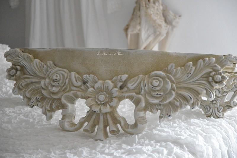 Etagère sur mesure etagère shabby chic et romantique etagère patiné lin creation le grenier d'alice
