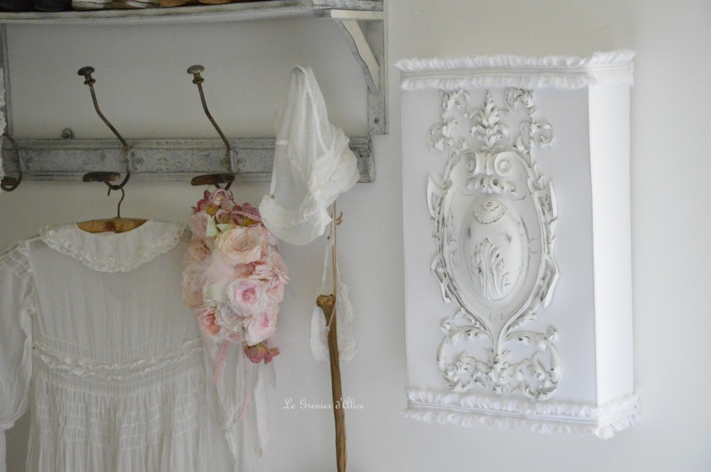 abat jour cran 50x30 abat jour shabby chic romantique froufrou romantic and shabby chic style. Black Bedroom Furniture Sets. Home Design Ideas