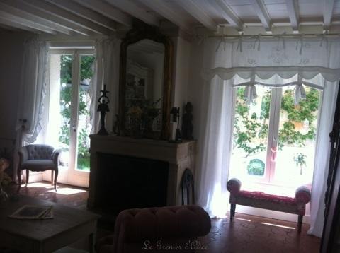 Rideau cantonniere rideau volant shabby chic rideau romantique lin blanc organdi broderie machine nouette vague