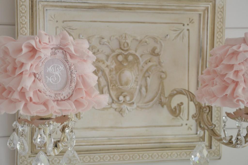 Le grenier d 39 alice shabby chic et romantique french decor part 3 - Abat jour shabby ...