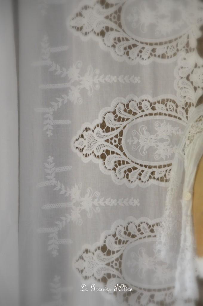 Tissu blanc coton rose poudré broderie dentelle tissu shabby chic tissu romantique tissu rideau coussin taie oreiller edredon housse de couette 1