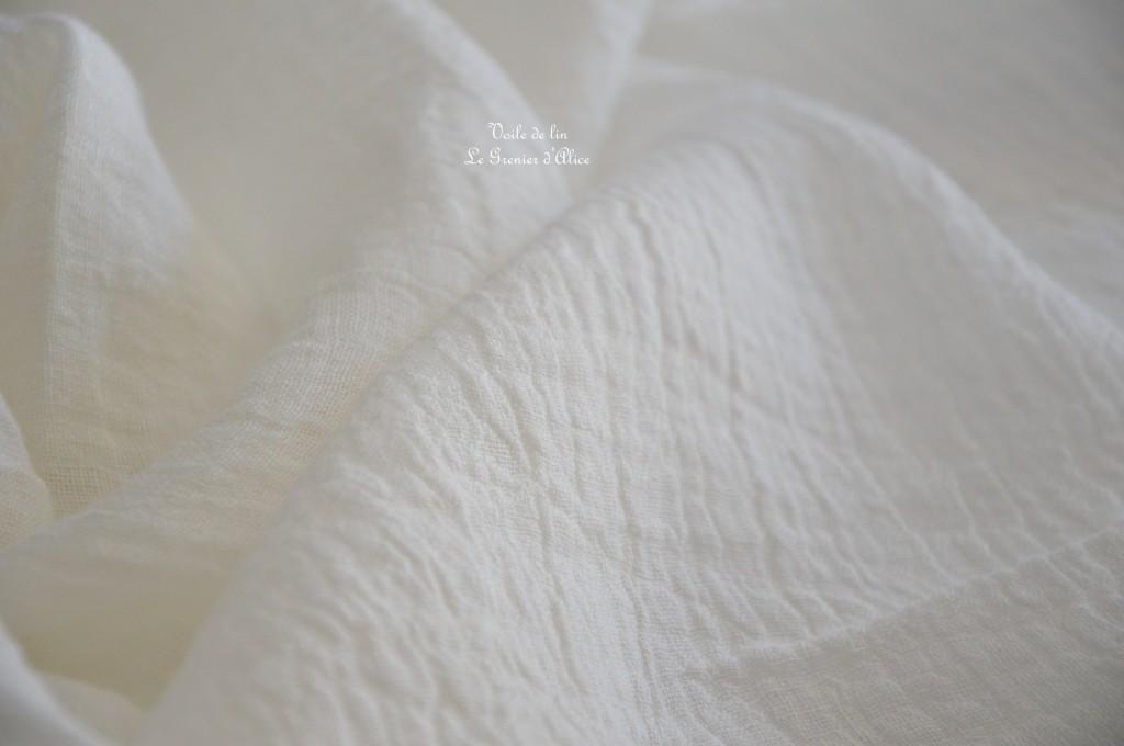 Voile de lin 130g au m2 voile de lin shabby chic pour rideau habillement robe textile coussin voile de lin romantique voile de lin blanc blanc cassé