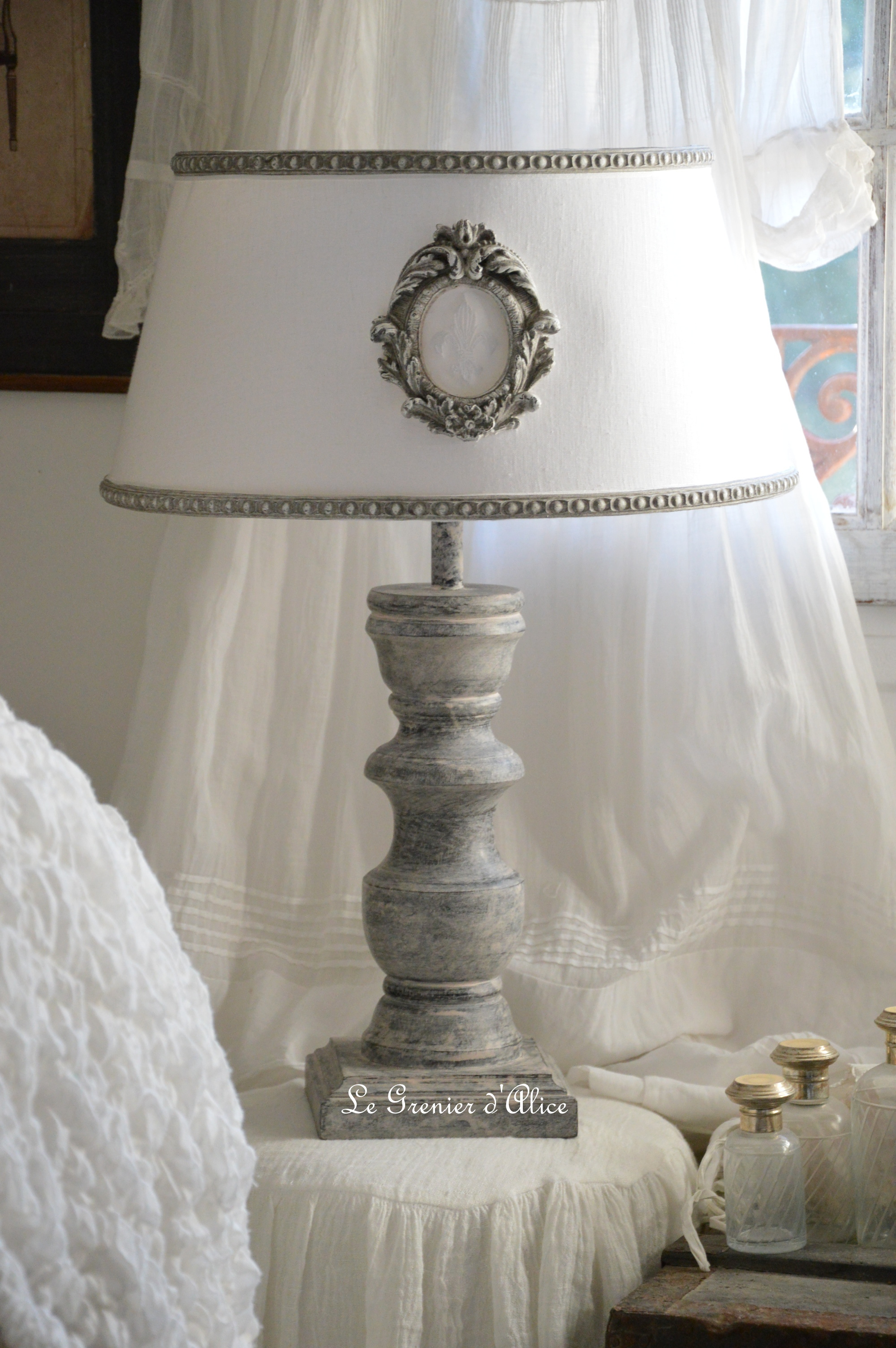lampe a poser shabby chic