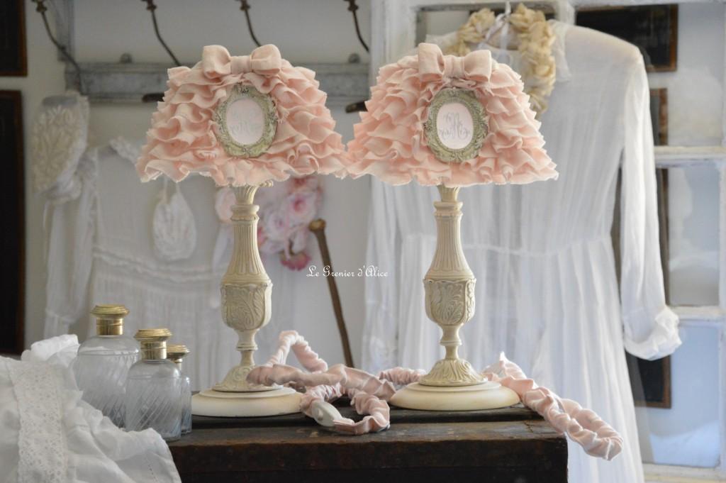 abat jour rose poudr pour lampe design de maison design de maison. Black Bedroom Furniture Sets. Home Design Ideas