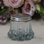 Boite N° 9 style shabby chic romantique ancien monogramme poincon verre argent nacre poudre charme exquis baroque collection de boites pilule