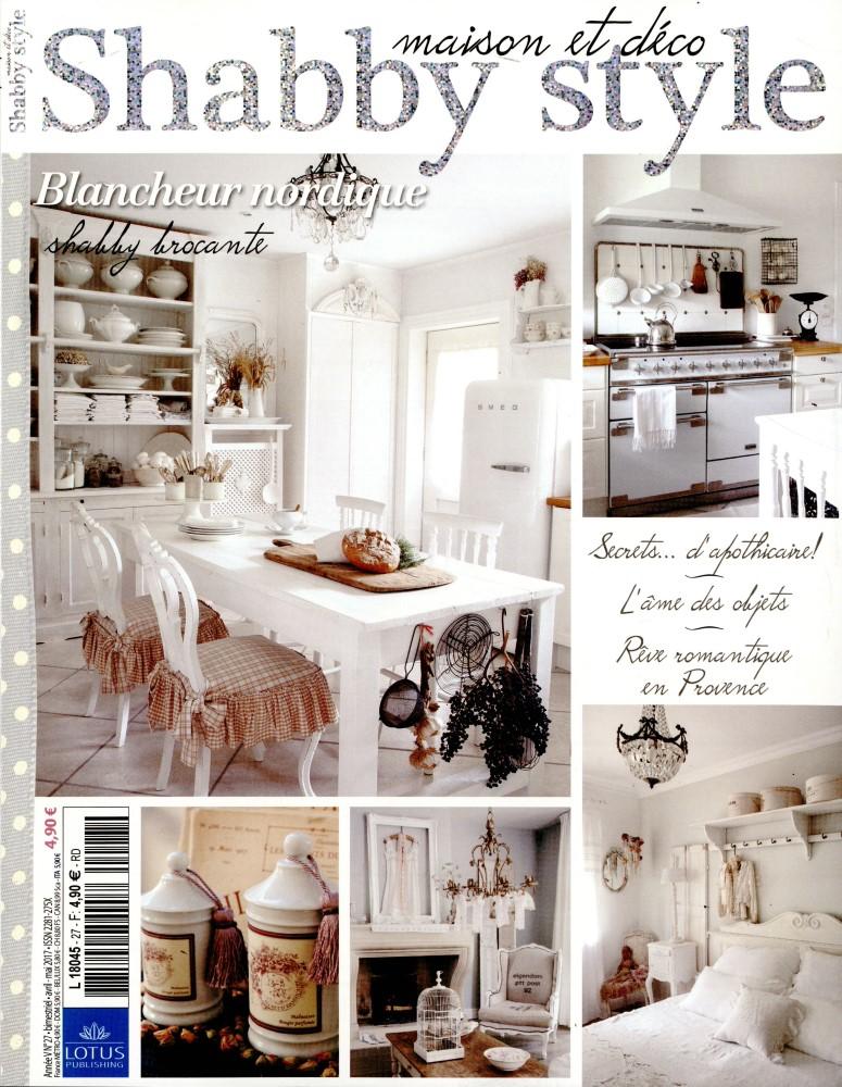 Magazine Shabby Style numéro 27 avril mai 2017 article le grenier dalice gite aix en provence nuit romantique shabby bedroom