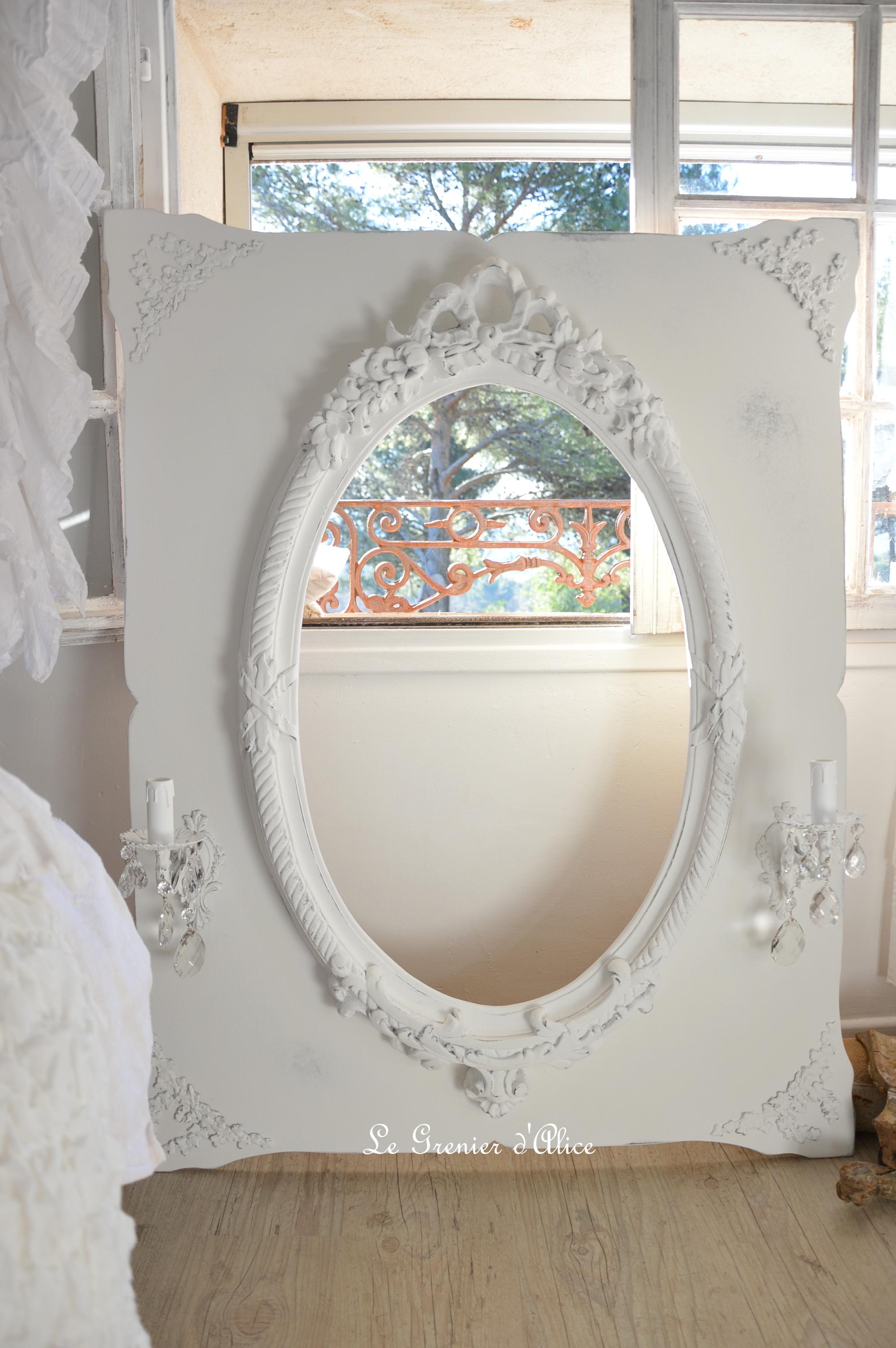 Miroir 224 Applique Quand Il Se Pare De Blanc Le Grenier