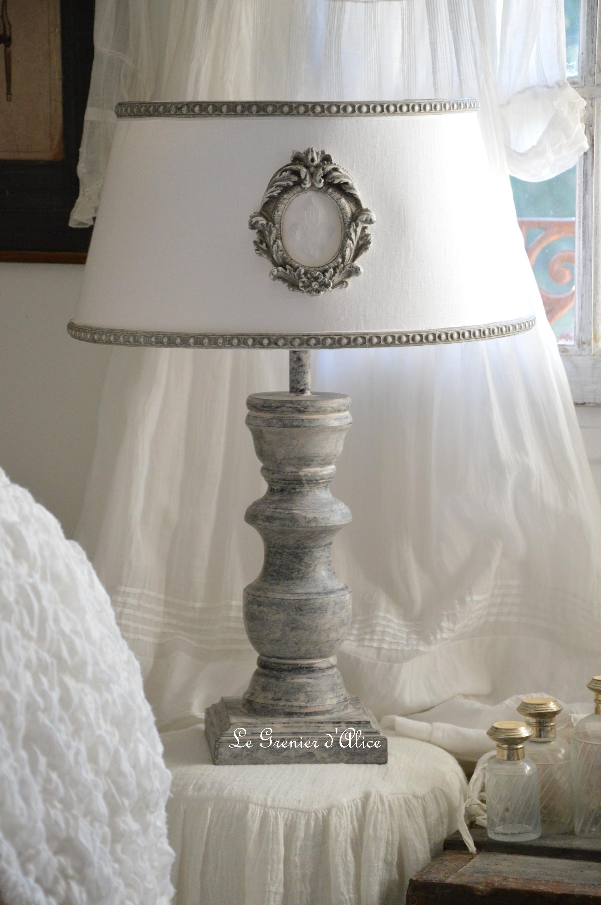Relooking lampe de chevet | Le Grenier d'Alice