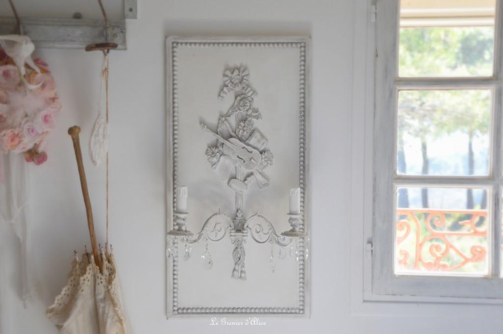 Appliques anciennes patinées le grenier dalice