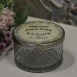 Boite N° 2 style shabby chic romantique ancien verre argent nacre poudre charme exquis baroque collection de boites pilule