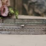 Boite N° 7 style shabby chic romantique ancien verre argent nacre poudre charme exquis baroque collection de boites pilule