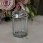 Boite N° 8 style shabby chic romantique ancien monogramme poincon verre argent nacre poudre charme exquis baroque collection de boites pilule
