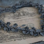 Couronne de rose métal très nordique shabby chic et romantique coeur de rose decoration de charme