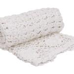 Dessus de lit jeté de lit courtepointe plaid crochet style ancien shabby chic romantique deco de charme lit chambre à coucher salon canapé
