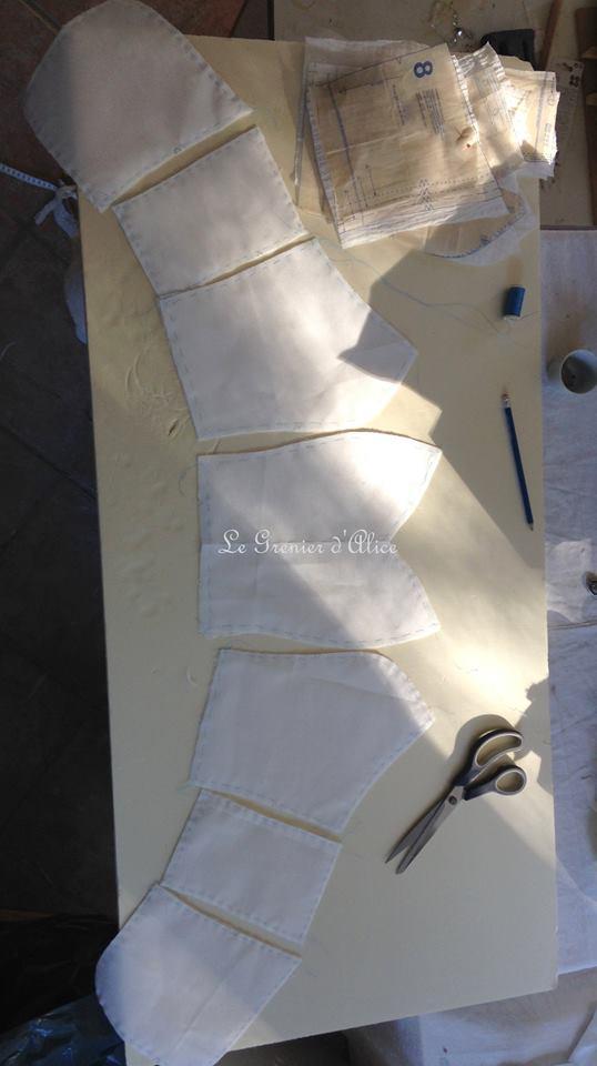 Fabrication bustier robe de mariée couture bustier patron couture bustier robe mariée ivoire tulle brodé voile mariée brodé voile de lin ivoire