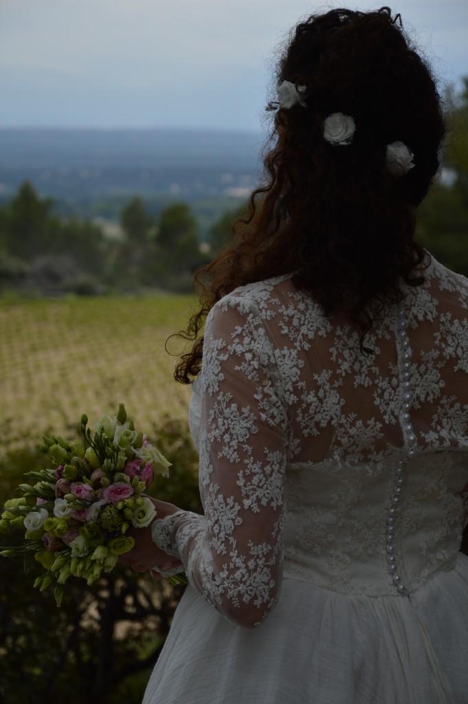 036bce9b367 Mariage romantique robe mariée romantique robe mariée tulle brodé voile de  lin ivoire robe mariée ivoire