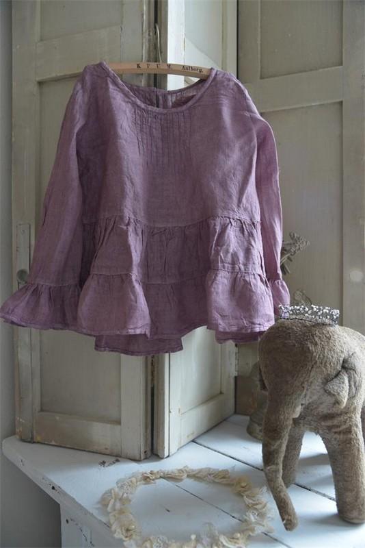 Chemisier blouse enfant vintage couleur prune marque Jeanne d Arc Living en vente boutique Le Grenier d Alice à Rognes 13840 8 avenue d Aix