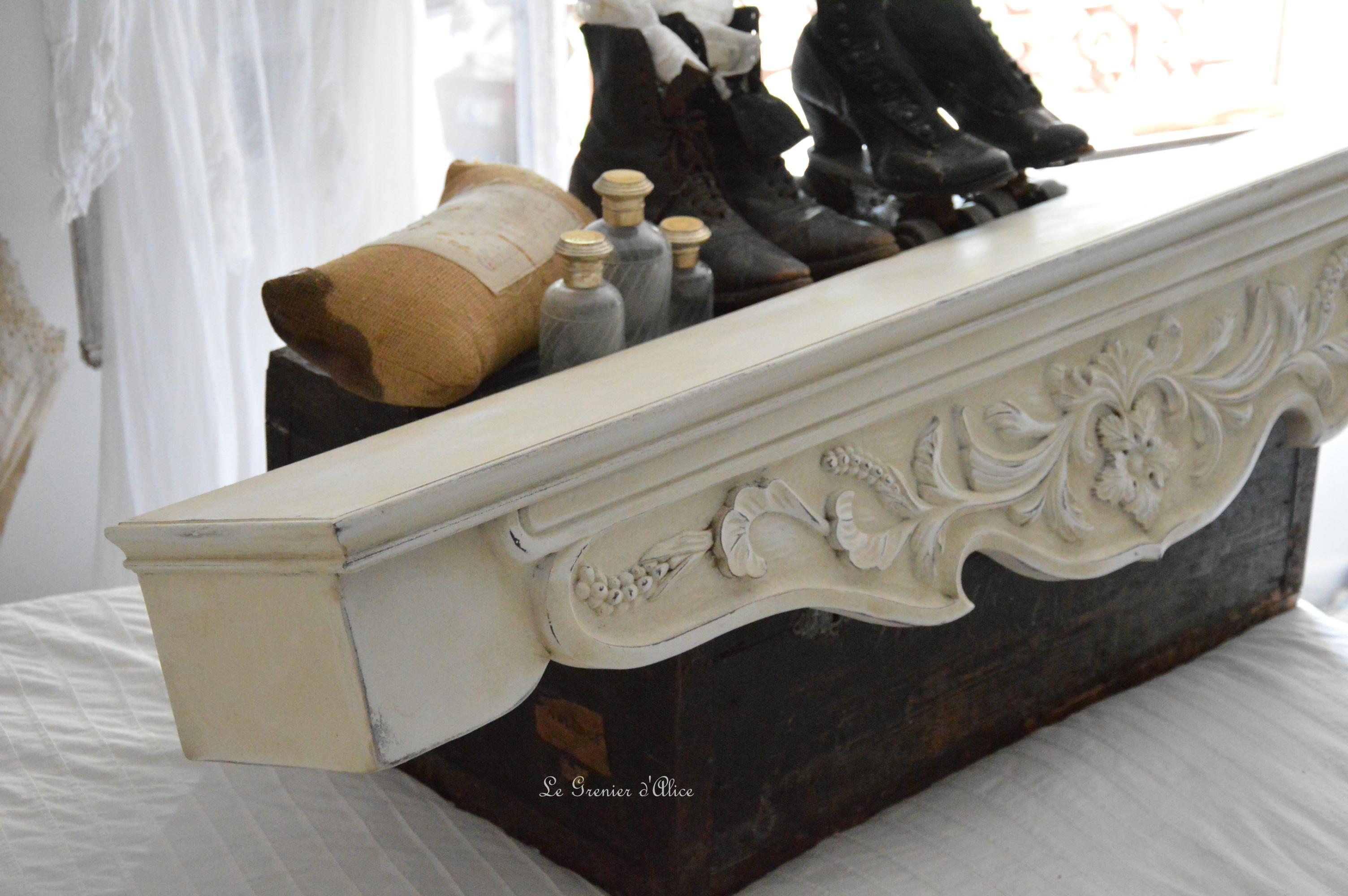Cantonnière ciel de lit étagère shabby chic romantique création le grenier dalice 2