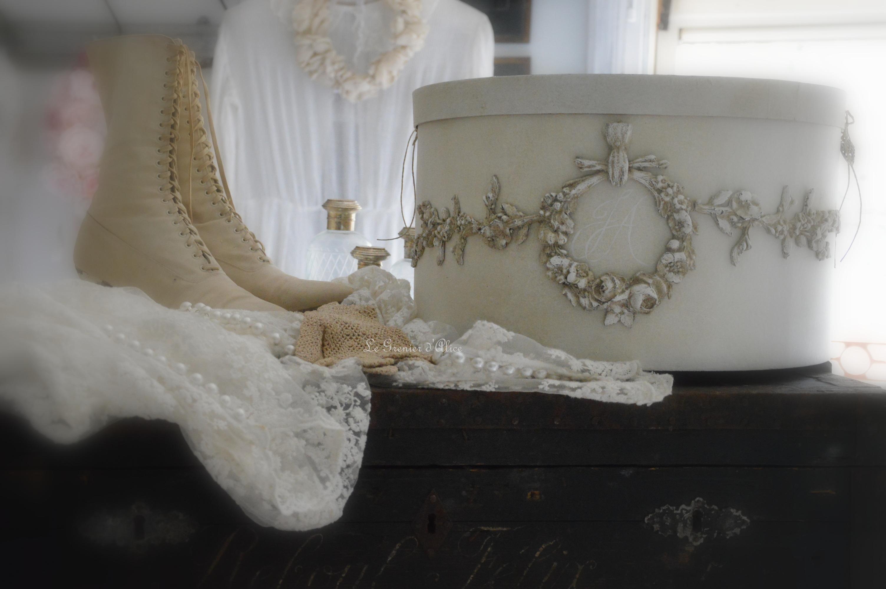 Urne boite mariage wedding box boite shabby chic et romantique noces création le grenier dalice 2